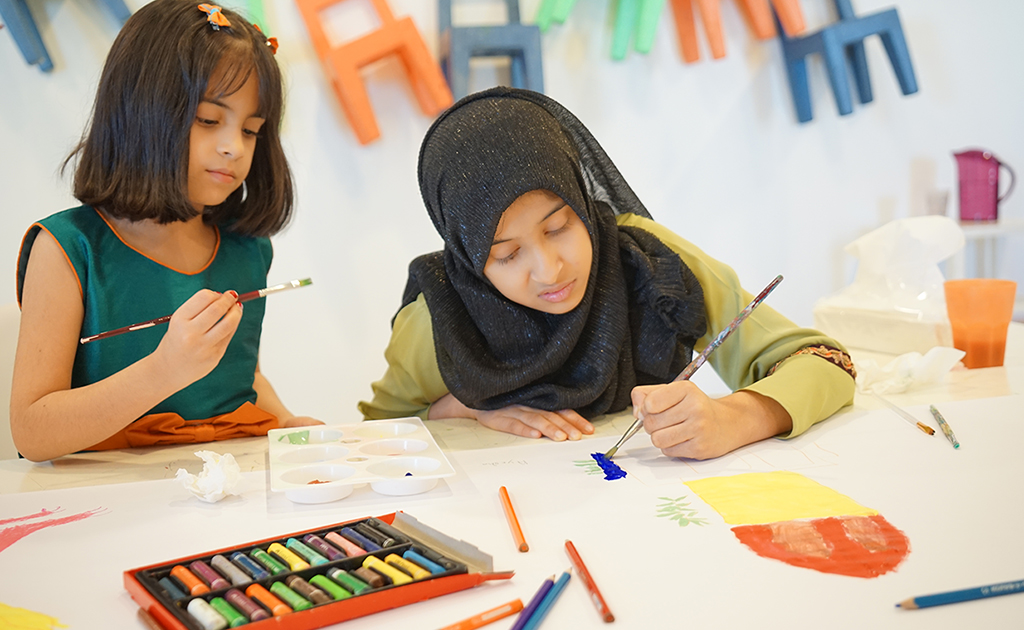 Artistic workshops for children of Al Jalila Foundation's Farah paediatric program at the Al Jalila Cultural Centre for Children