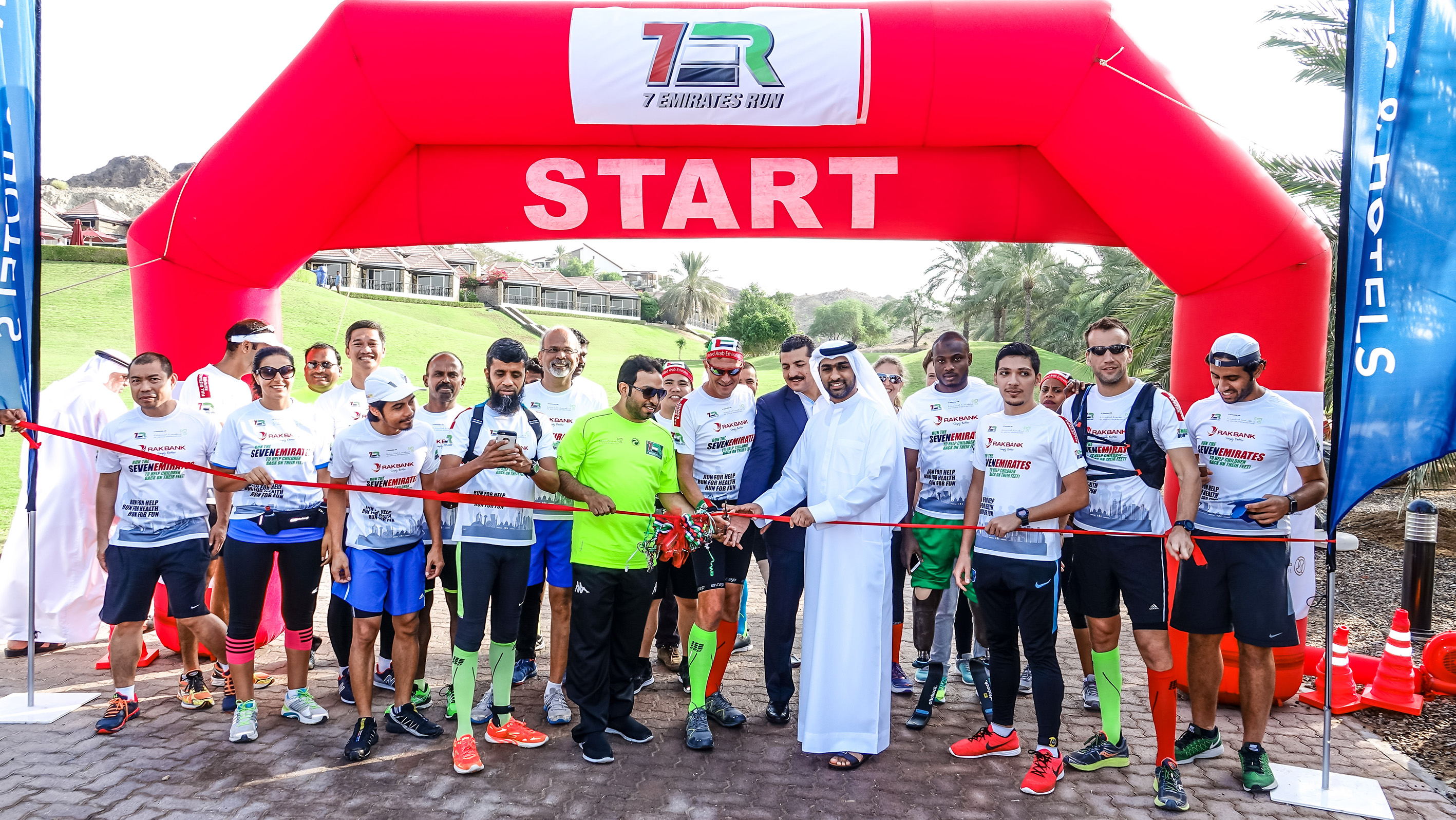 7EmiratesRun in partnership with Al Jalila Foundation kicks off in Hatta today to 'get children back on their feet'